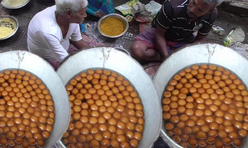Full Gulab Jamun Sweet Preparation for Bengali Marriage Occasion   Street Food Loves You Present