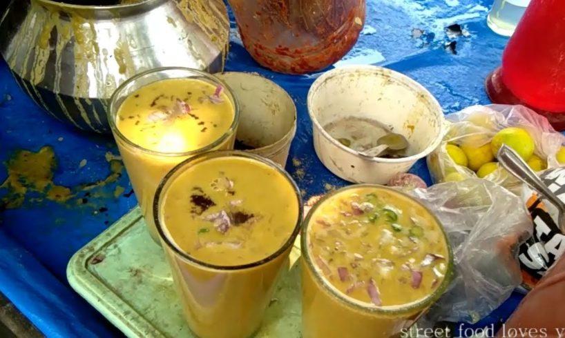 Indian/Kolkata Street Food  - Sattu Drink (Tasty Healthy Drink) Very Common Street Food in India