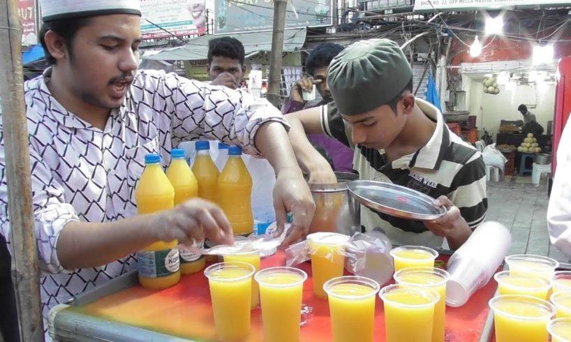 Lots of People Buying Mango Juice & Varieties Food @ 10 Rs Only | Hyderabad Street Food