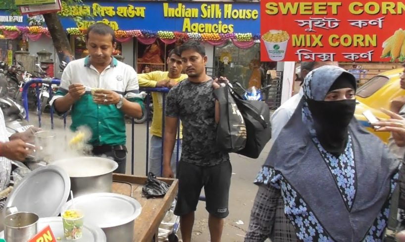 Masala Butter Sweet Corn @30 rs Per Plate | Street Food Kolkata New Market Opposite New Milan