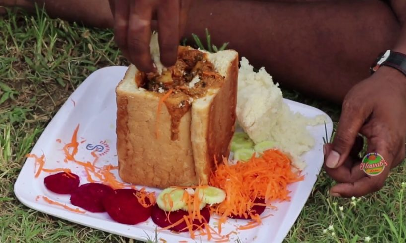 Mutton Recipe | Bunny Chow Recipe -The original street food from South Africa Darbun-Nawab's kitchen