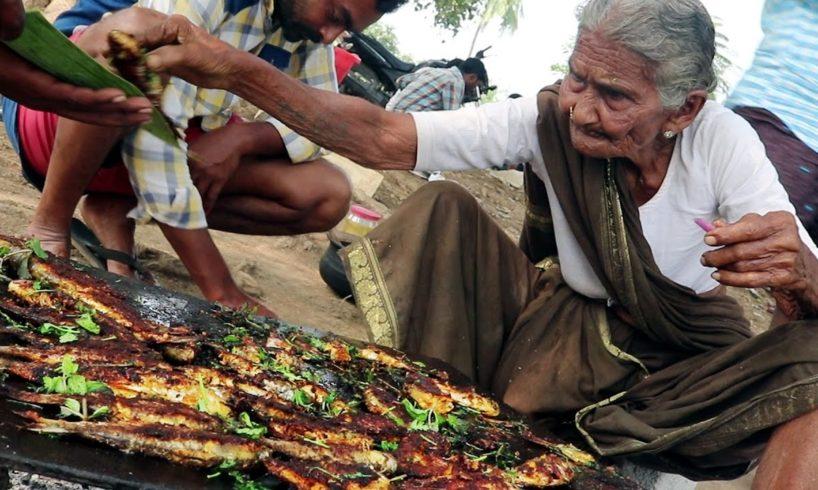 My 105 years Grandma's Fish Fry   World Best roasted fish recipe   Country Foods
