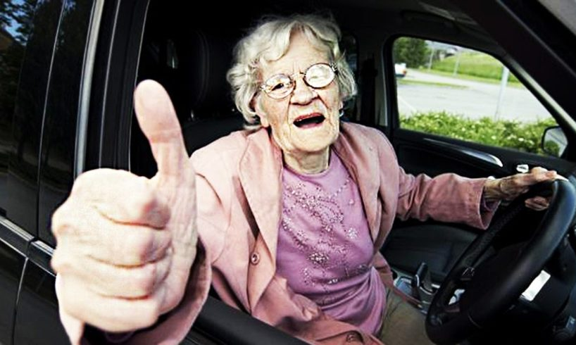 Old People Driving Fails - Elderly Drivers Car Funny Fails