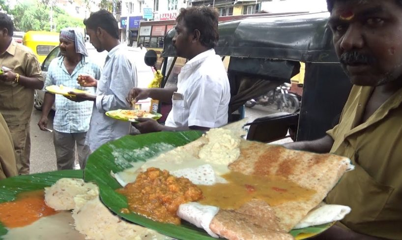 Pongal Rice with Free Vada @ 25 rs & Big Size Plain Dosa @ 35 rs | Breakfast Chennai Triplicane