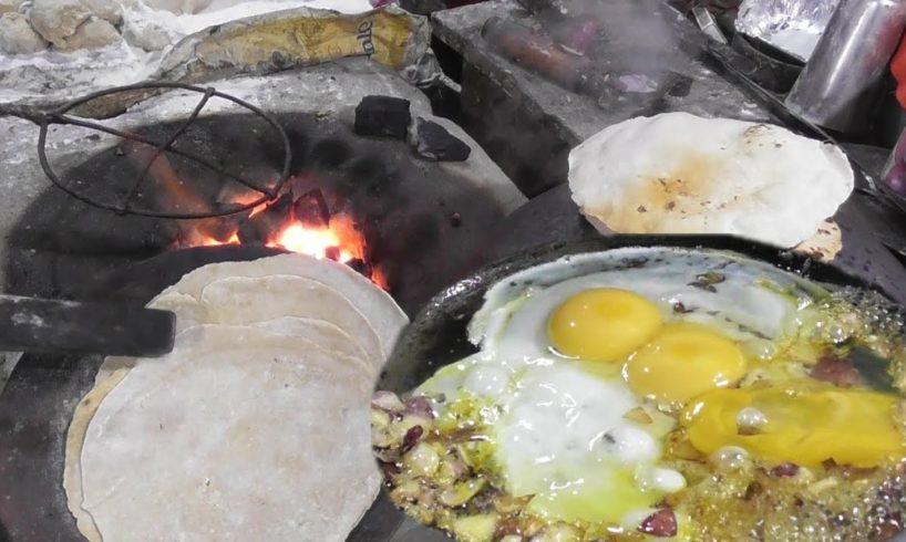 Potato Egg Bhujia ( Scramble ) With Roti (Bread)   Friends are Enjoying The Food