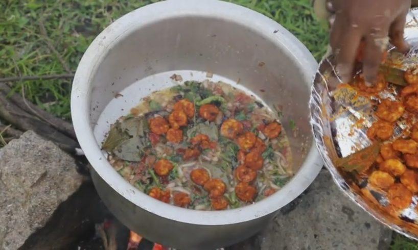 Prawns Biryani - Village Prawns Recipe - Shrimp Biryani - Country Food