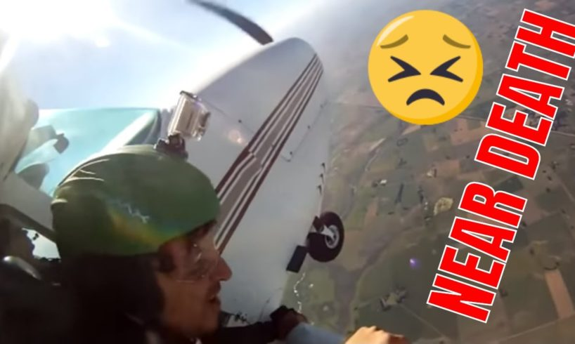 THIS COULD HAVE ENDED BAD😐SKYDIVING FAILS - COMPILATION