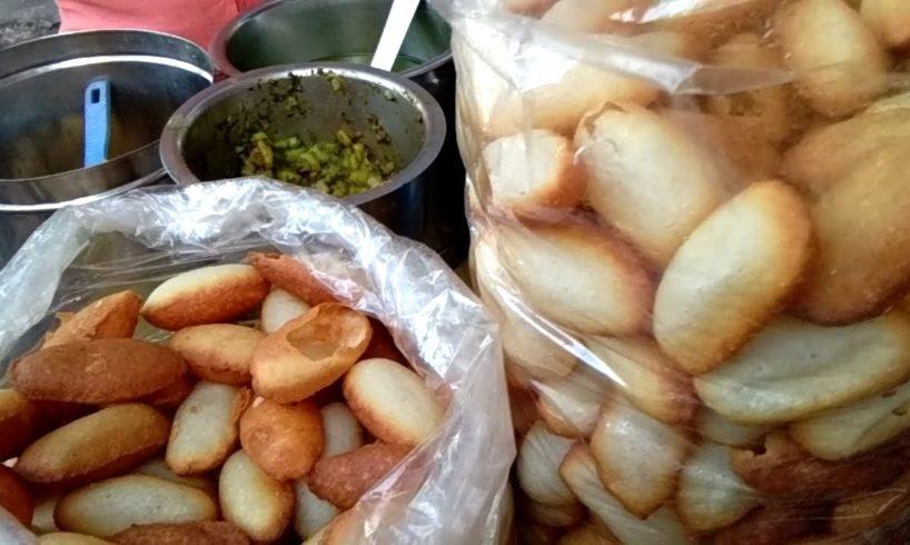 Tasty Sooji Pani Puri (Golgappa/Puchka) with Green Water | Kolkata Street Food | Indian Street Food
