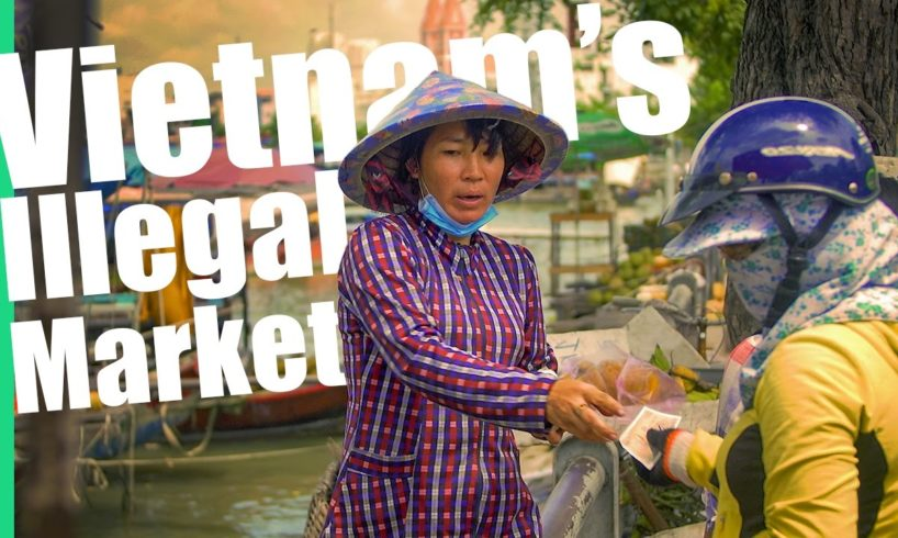 Vietnam's Illegal Floating Market!