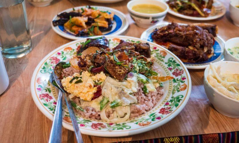Bangkok to Bhutan - AMAZING First Bhutanese Food Meal in Thimphu! (Day 1)