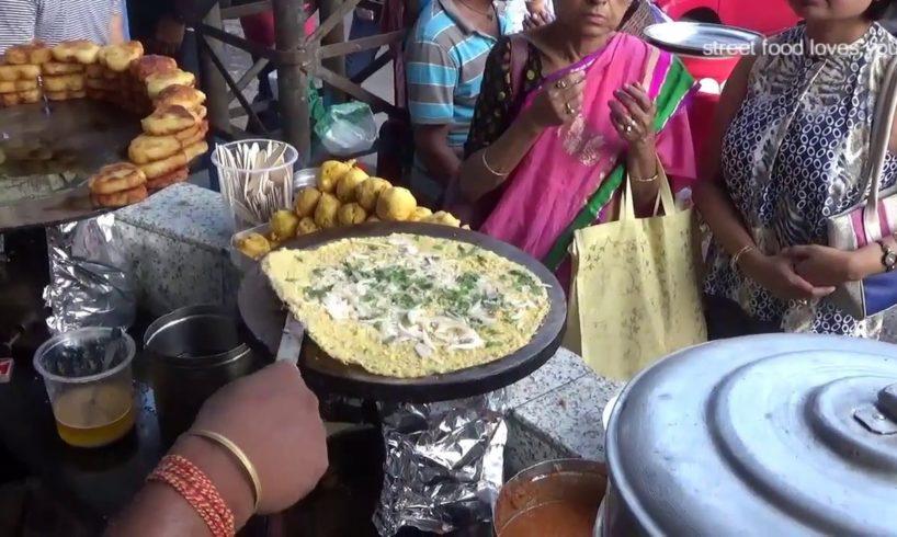 CHILLA DOSA (Moong Dal Dosa) - South Indian Food In Kolkata Street - Street Food of India