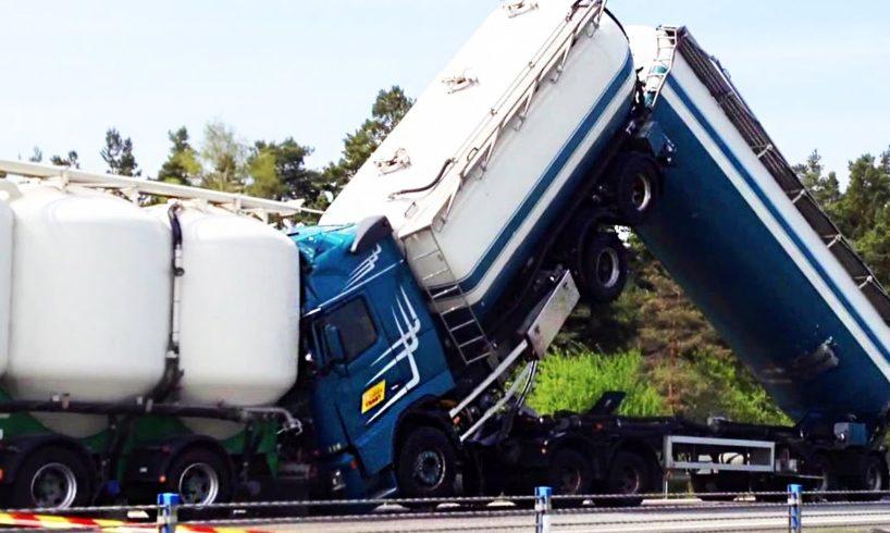 Epic Truck Drivers Fails 2017 - Ultimate Semi Trucks Driving Fails, Heavy Equipment Accidents