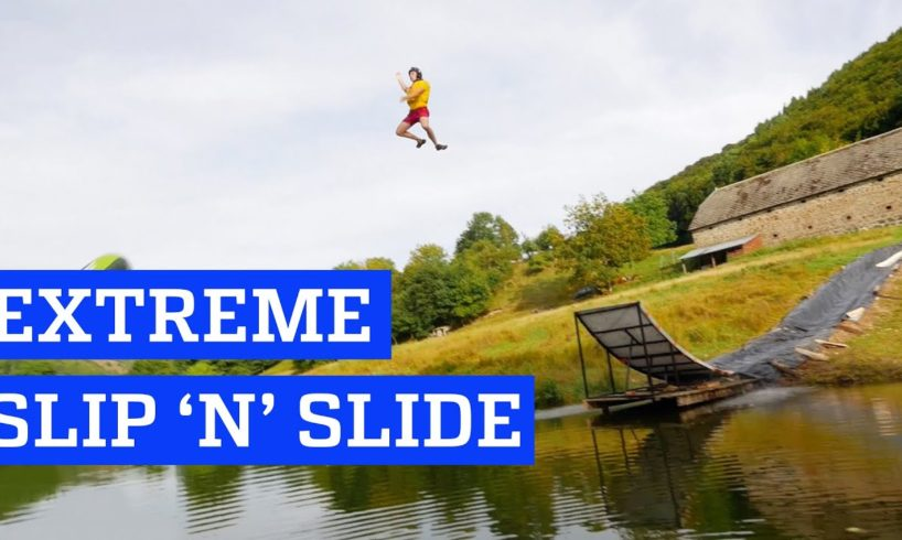 Extreme Slip 'n' Slide! | People are Awesome
