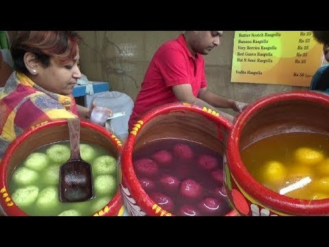 Flavours Rasgolla (Watermelon,Strawberry) Selling at Ahare Bangla Food Festival |Kolkata Street Food