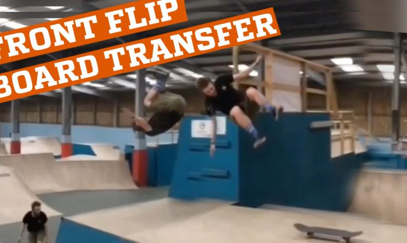 INCREDIBLE front flip board transfer!! (People are Awesome)