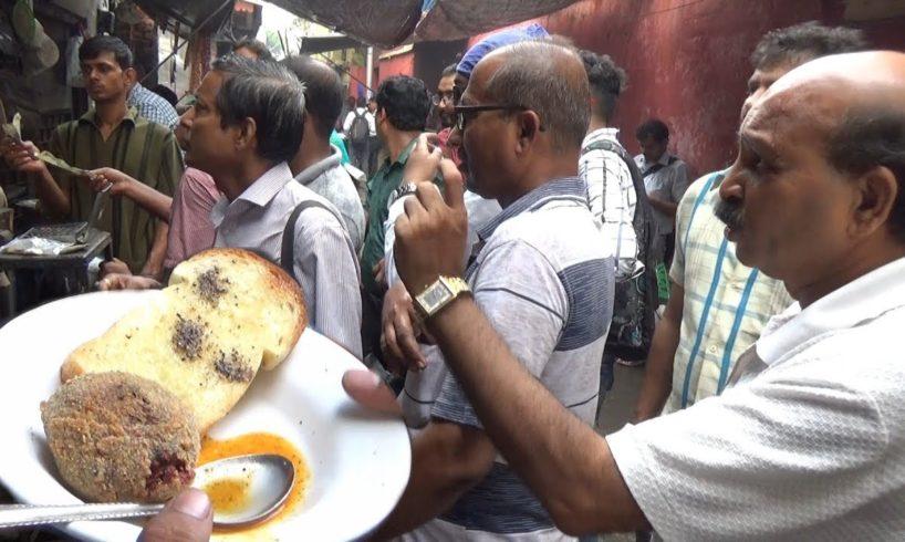 Kolkata People Enjoing Food at Famous Chitto Babur Dokan