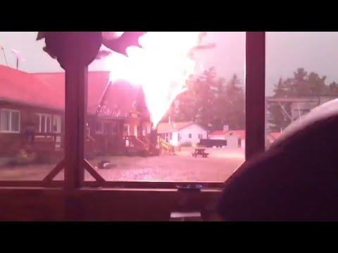 Near death moments on Camera   Lightening compilation