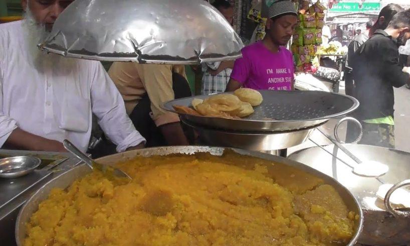 People Crazy for Puri Halwa | Delhi Street Food