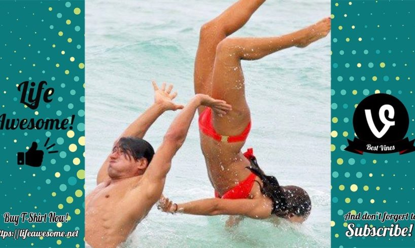 TRY NOT TO LAUGH - Funny Fails Compilation 2019   Funny Beach Fails Vines