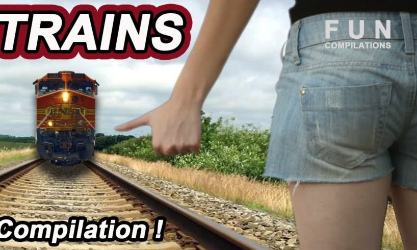 American & Russian TRAIN ACCIDENTS & Close Calls TRAINS CRASH Cars Compilation!