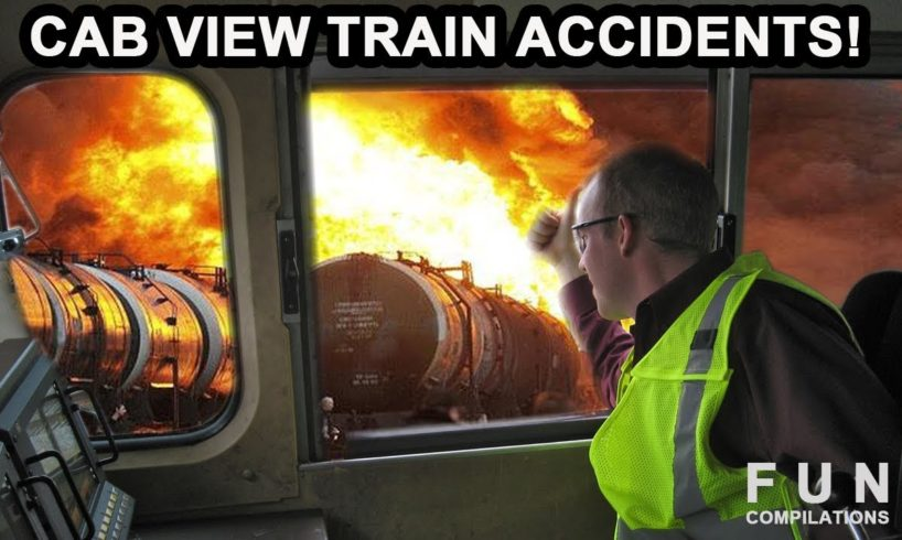 CAB VIEW TRAIN ACCIDENTS & Close Calls FPV First Person View Railway Crashes Compilation!