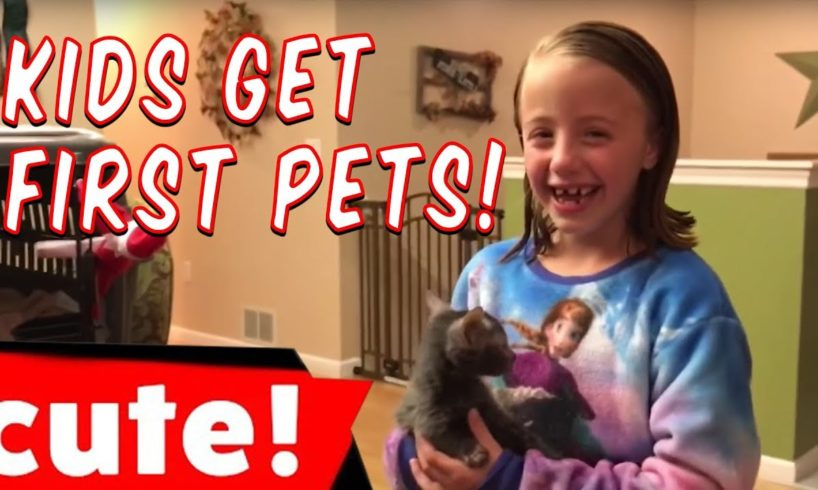 Cute Kids Surprised With Pets! | Try Not To Cry Challenge
