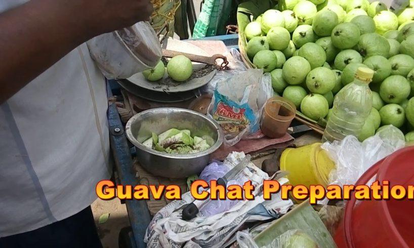 Guava Chat Preparation In Kolkata Street food - Amazing taste