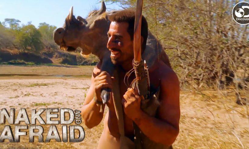 Matt Hunts Down a Warthog   Naked and Afraid