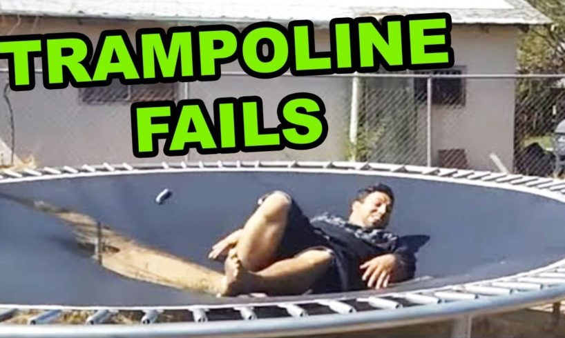 TRAMPOLINE FAIL COMPILATION 2019