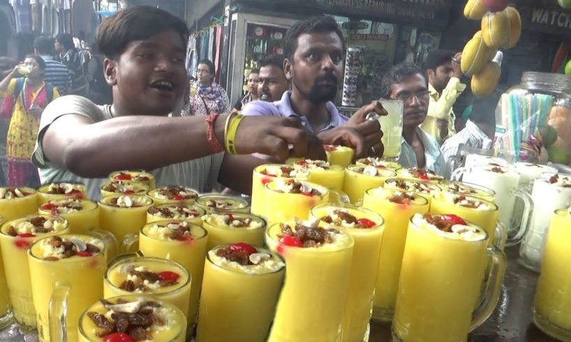 Thousand of Mango Malai Lassi Finished within an Hour | Kolkata Dharmatala Street Food