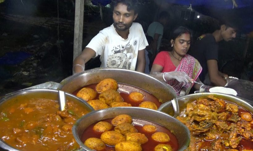 Indian Couple Working with a lot of Effort | Garam Roti with Chili Chicken @ 80 rs Plate