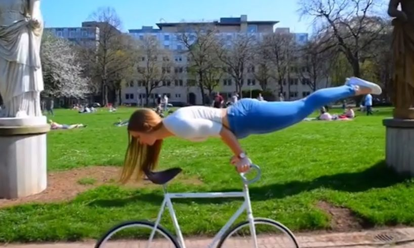 Artistic Cycling Tricks by Viola Brand | People Are Awesome