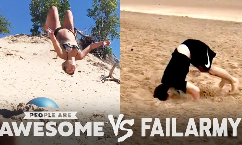 Beach Backflips, Squad Tricks & More   People Are Awesome vs. FailArmy