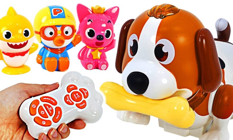 Bow-wow~! Baby shark's got a cute Puppy! Dancing Touch Dog   PinkyPopToy