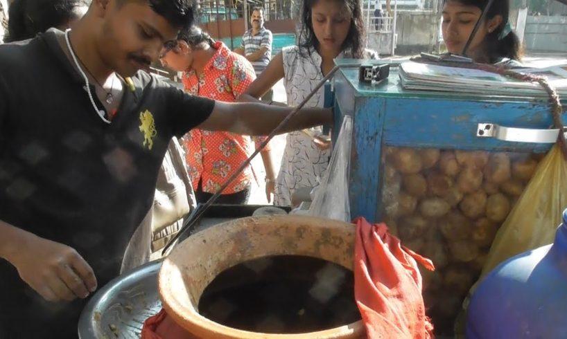 Enjoying Agartala Panipuri Spicy & Crispy - 6 Piece @ 10 rs Only - Indian Street Food