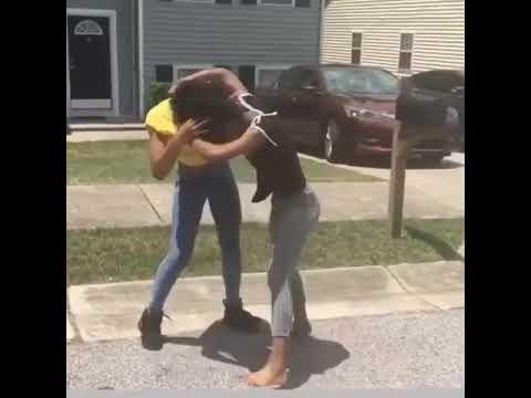 Girls hood fight
