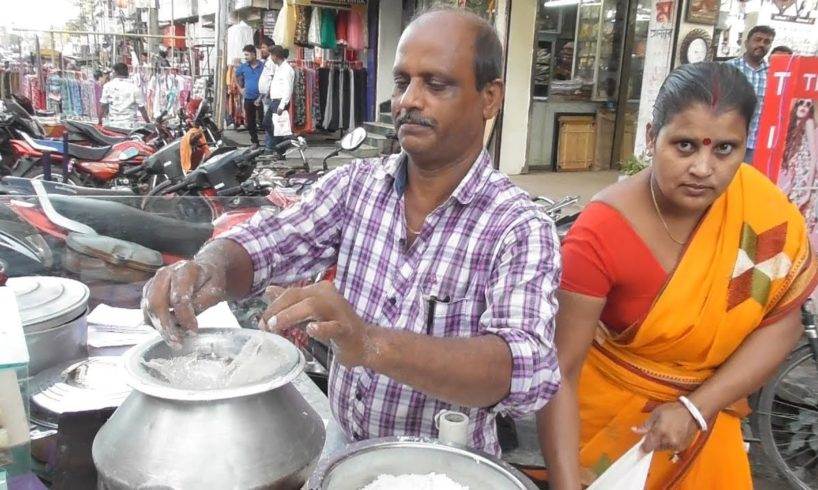 Hard Working Tripura Husband Wife Selling Rice Cake @ 10 rs Each - Agartala Street Food