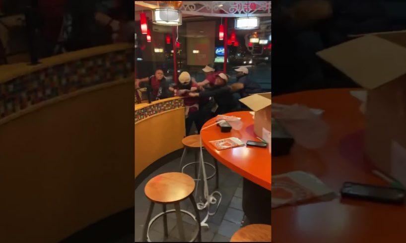 Hood Fight At Popeyes Chicken Milwaukee WI