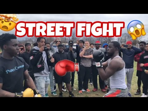 Hood fight getting jumped *MUST WATCH*