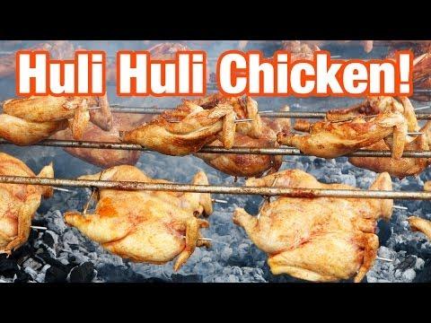 Huli Huli Chicken at Ray's Kiawe Broiled Chicken in Haleiwa, Hawaii