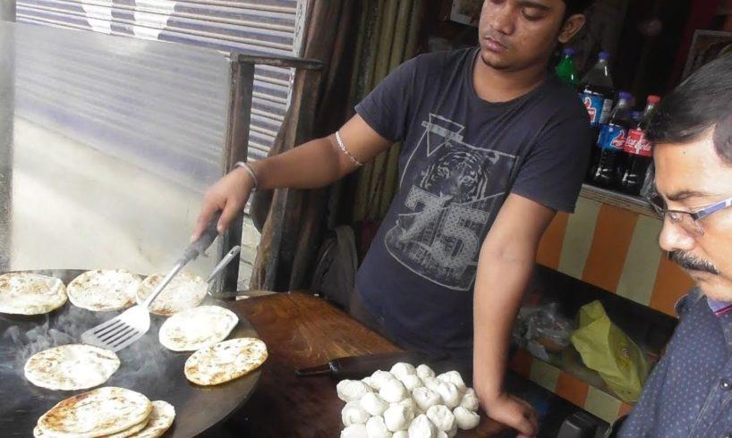 It's A Common Man Breakfast in Agartala - Mini Paratha @ 5 rs Each - Indian Street Food