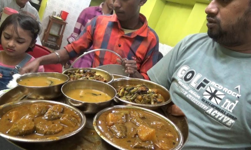 Jitna Marjee Khao ( Unlimited Rice ) Only 60 rs ($ 0.84 ) Thali - Best Indian Agartala Street Food