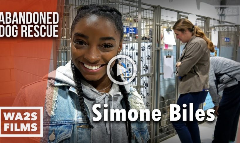 Simone Biles Spends A Night In the Dog House Helping Adopt Out Dogs - The Abandoned Dog Rescue Show