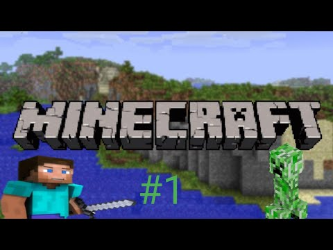 Starting a new life in Minecraft ?(near death on first day)-Minecraft #1.