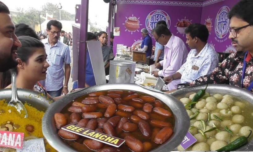 World Famous Rasgolla / Langcha - Kolkata People Enjoying Ahare Bangla Food Festival 2019