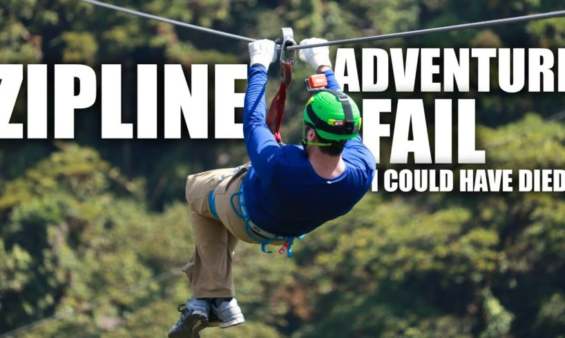 Zipline Adventure Fail. I Could Have Died!