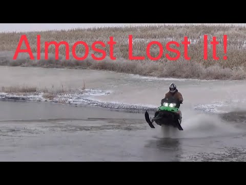 Near Death Compilation | snowmobile on water (HE'S NUTS!!!!)