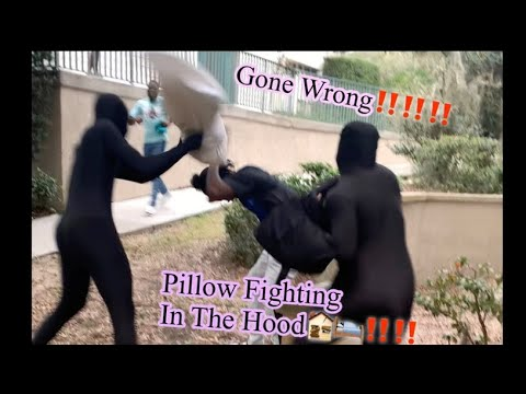 PILLOW FIGHTING IN THE HOOD🏚🏚(GONE WRONG‼️‼️) Orlando Edition
