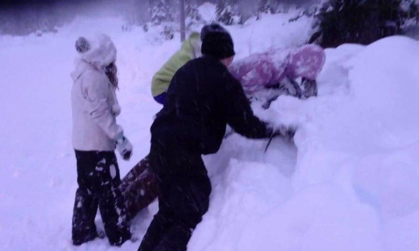 Snow fight at Mt Hood