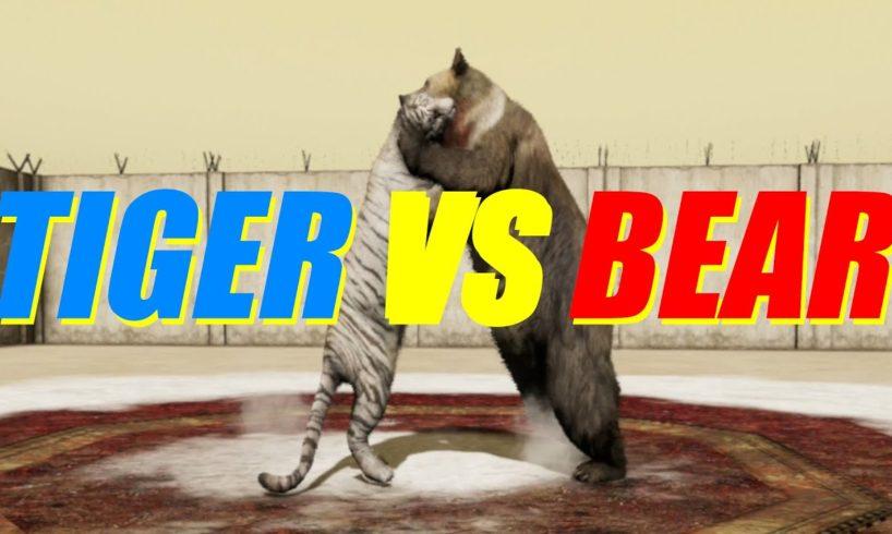 Far Cry 4 Animal Fight - Tiger vs Bear Battles (Custom Map Editor)